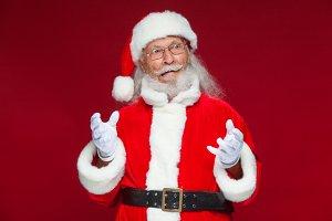 Christmas. Good Santa Claus in white