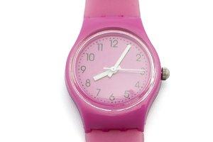 pink clock