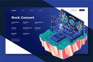 Rock Concert - Banner & Landing Page