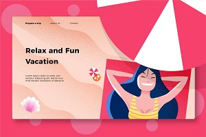 Vacation - Banner & Landing Page