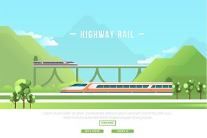Highway Rail - Vector Landscape