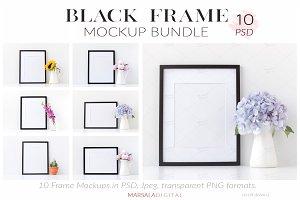 Black Frame Mockup Bundle set of 10