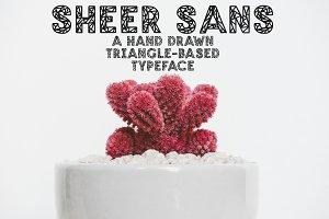 SHEER SANS Hand Drawn Typeface