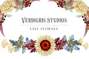 Fall Watercolor Florals
