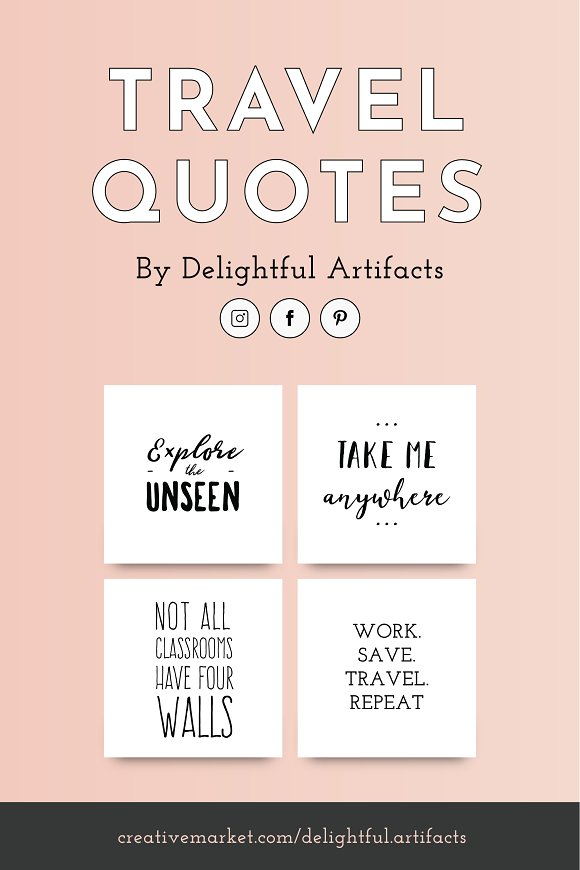 Travel Quotes 53 Wanderlust Quotes Pinterest Templates