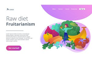 Raw diet and frutarianism landing