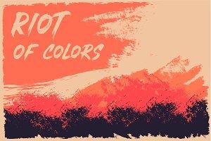 Riot of Color Vector Illustartion