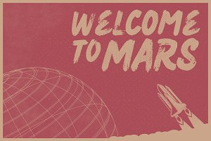 Welcome to Mars Vector Illustration