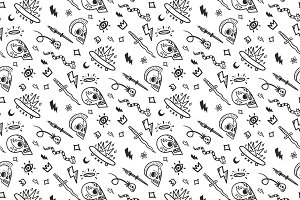 Old School Tattoos Vector Pattern