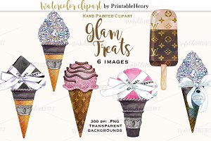 Glam Treats Fashion Clipart
