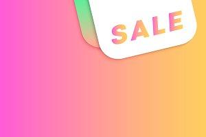 Sale Gradient Background Vector