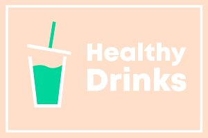 Healthy Drinks Vector Illustration