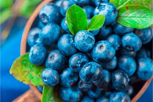 Blueberries close-up. Ripe and sweet