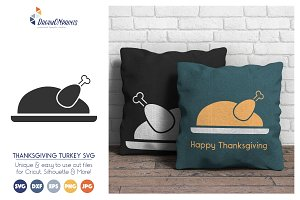 Thanksgiving Turkey Vector SVG
