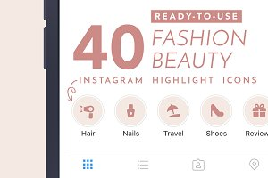 40 Fashion Instagram Highlights Icon