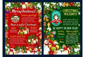 Christmas holidays poster