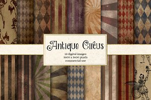 Antique Circus Digital Paper