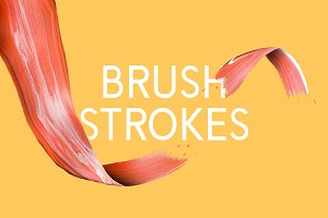 10 Artsy Paint Brush Strokes