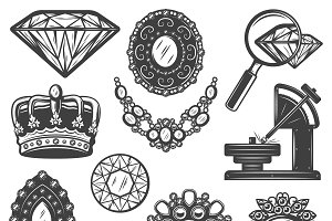 Jewelry Repair Service Elements Set
