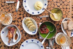 Feast in Czech restaurant