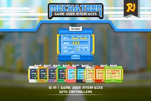Mechatoon Game UI Art Pack