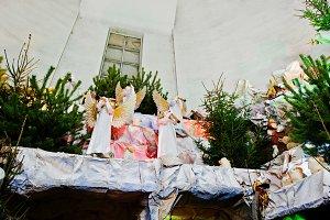 Very large christmas nativity crib.