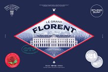 Introducing: Florent - Font Family by  in Sans Serif Fonts