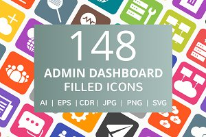 148 Admin Dashboard Filled Icons
