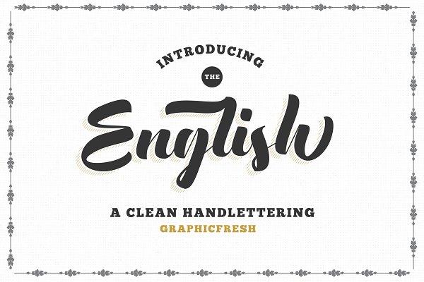 The English Font - Vintage Lettering