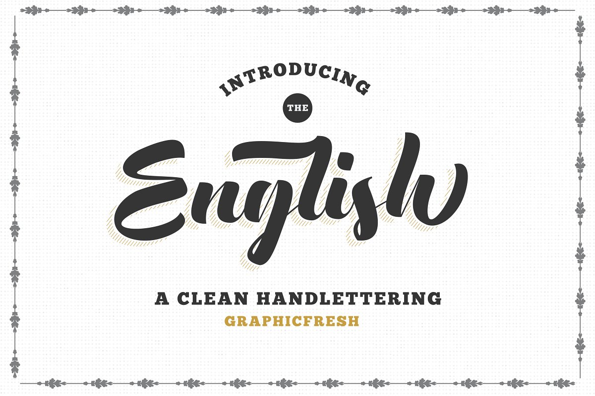 The English Font - Vintage Lettering ~ Script Fonts