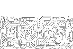 White circuit board pattern texture.