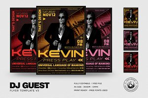 DJ Guest Flyer Template V3