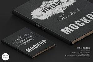 Vintage Notebook Mockup