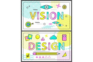 Design and Vision Collection Vector