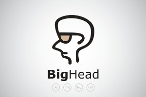 Big Head Guy Logo Template