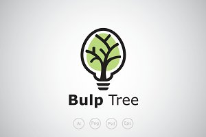 Bulp Tree Logo Template