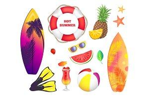 Summer Beach Party Banner, Vector