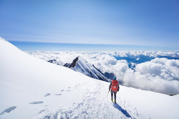 People Stock Photos: sweet spot - Trekking to the top of Mont Blanc mo