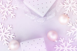 White Christmas Decoration Pastel