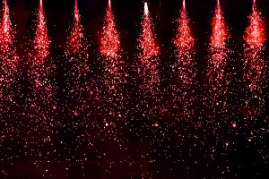 Sparkling theatre lights in red