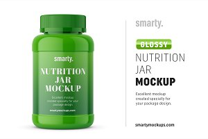 Nutrion jar mockup / glossy