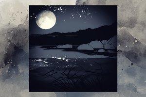 Night and river | JPEG