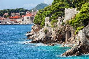 Adriatic Sea Coastline in Dubrovnik