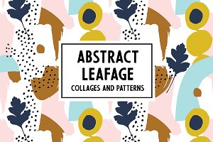 Abstract Leafage Collages&Patterns
