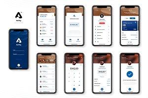 Aerpay App Little UI Kit - PSD