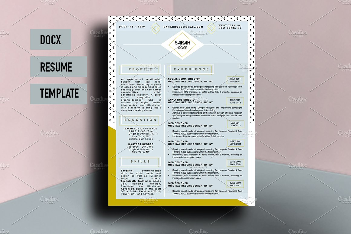 nice resume templates beautiful resume template resume templates 23781 | creative market 1