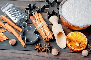 ngredients for baking on the old woo
