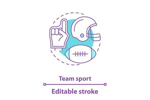 American football concept icon