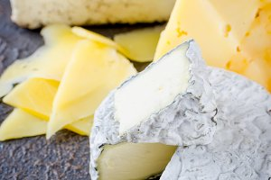 cheese sliced, cheese with mildew, h