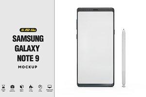 Samsung Galaxy Note 9 Mockup